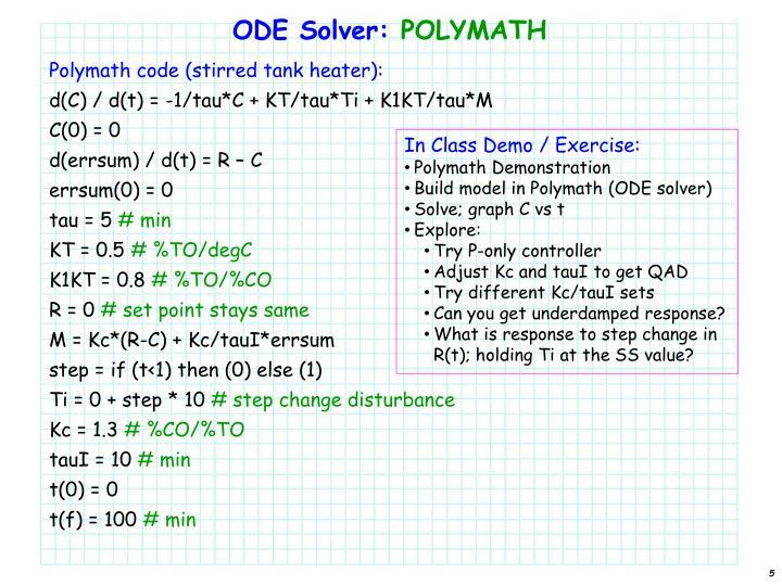 ODE Solver: