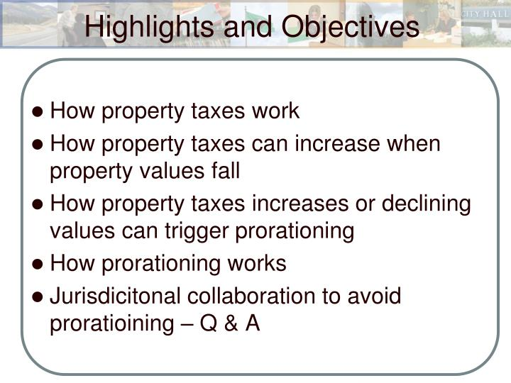 Highlights and objectives