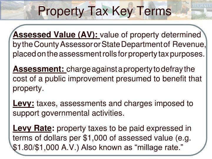 Property tax key terms