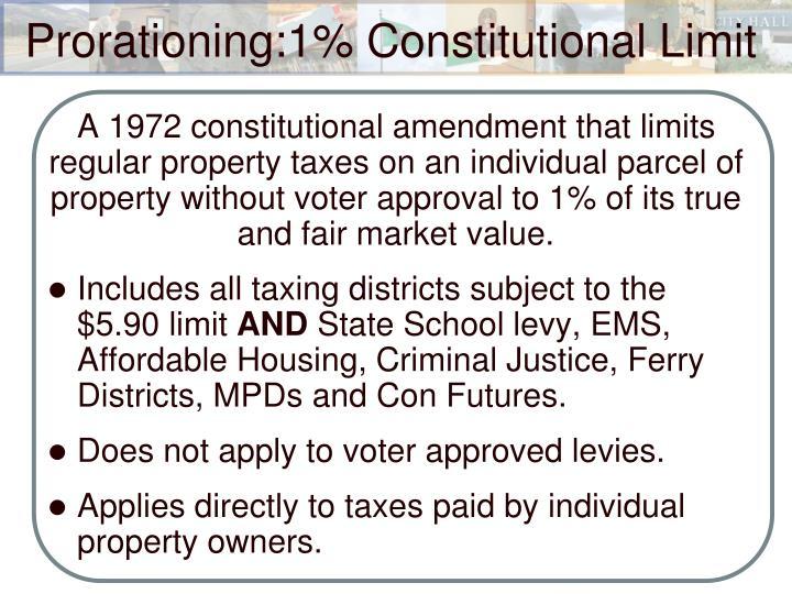 A 1972 constitutional amendment that limits regular