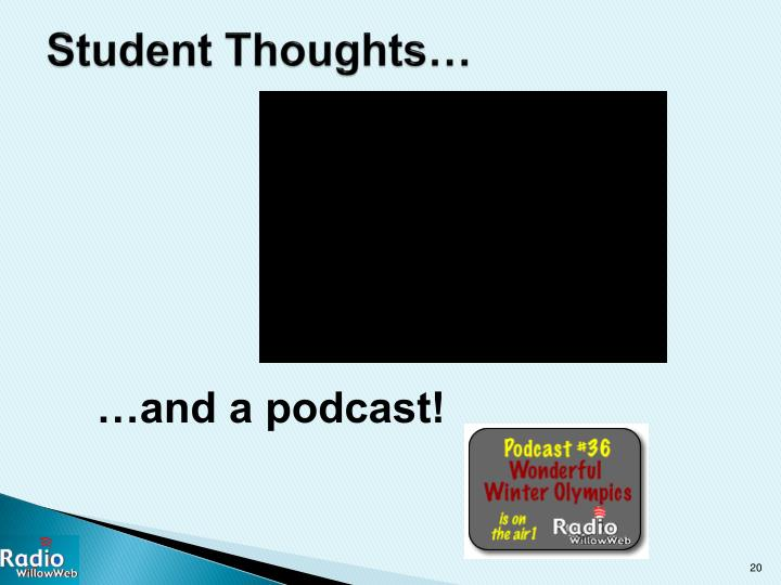 Student Thoughts…