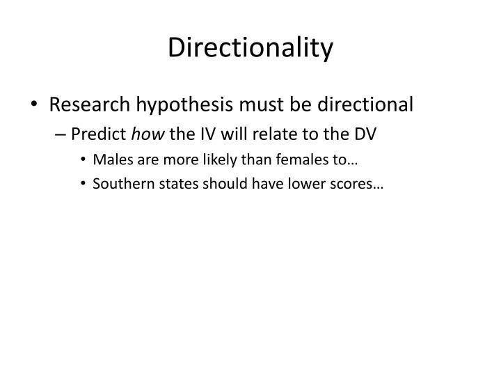 Directionality