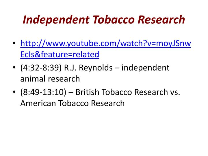 Independent Tobacco Research