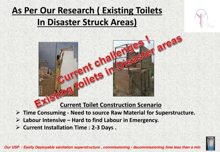 As Per Our Research ( Existing Toilets