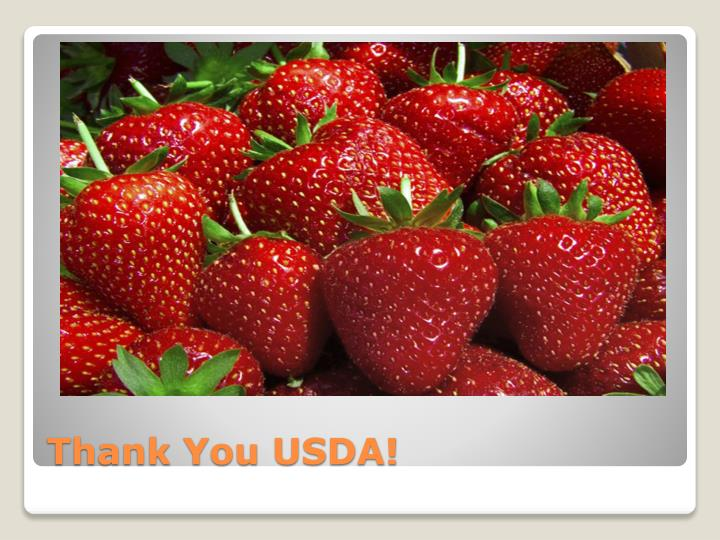 Thank You USDA!
