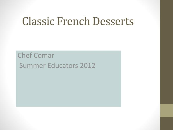 classic french desserts n.