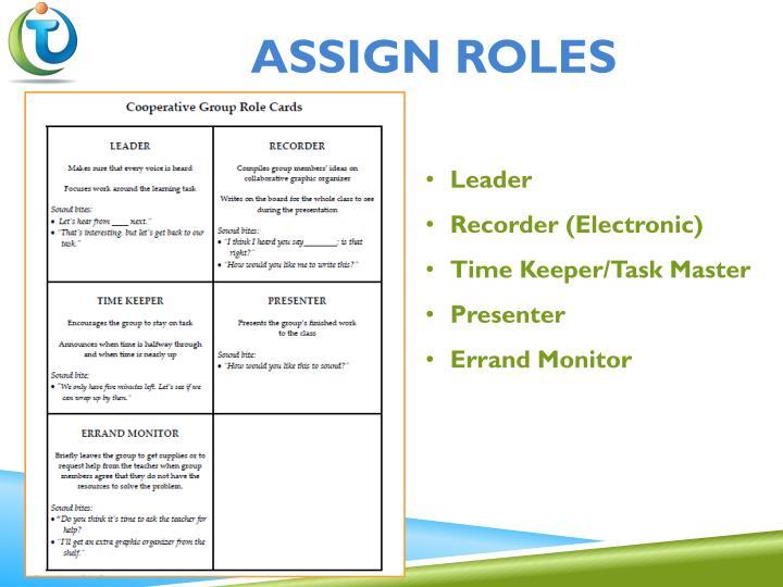 Assign roles
