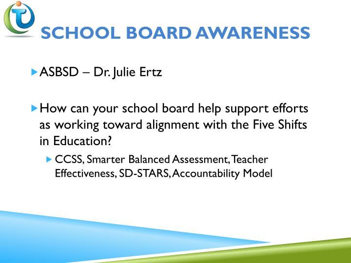 School board awareness