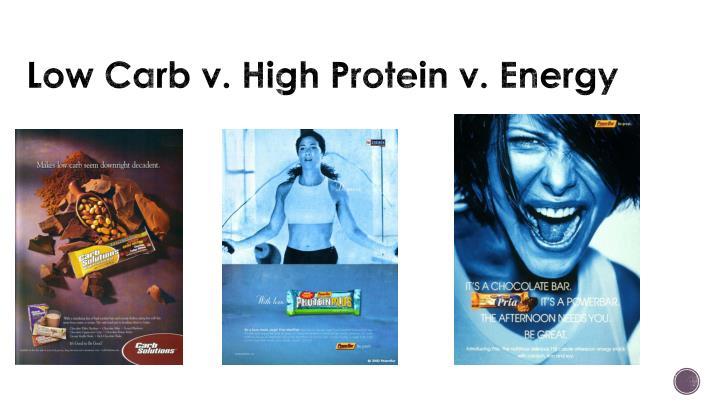 Low Carb v. High Protein v. Energy