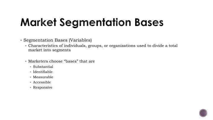 Market Segmentation Bases
