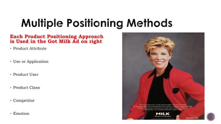 Multiple Positioning Methods