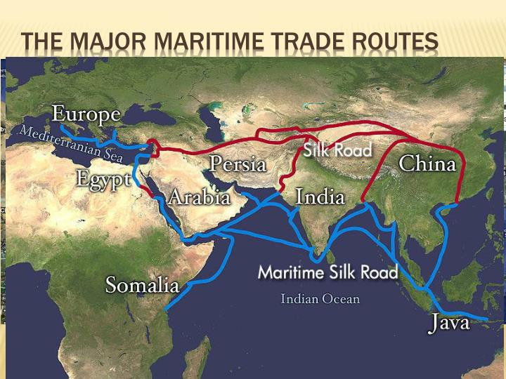 the major maritime trade routes