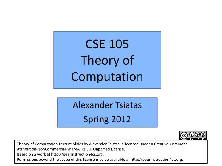 research paper on theory of computation To expose you to current research in theory of computation introduction to automata theory, languages, and computation we will work with research papers.