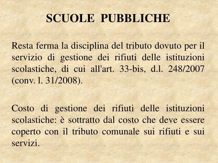 SCUOLE  PUBBLICHE