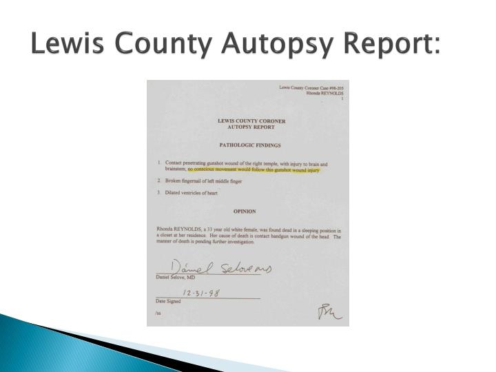 Lewis County Autopsy Report: