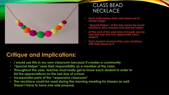 Class bead necklace