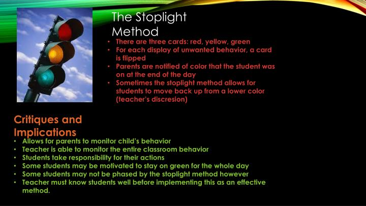 The Stoplight Method