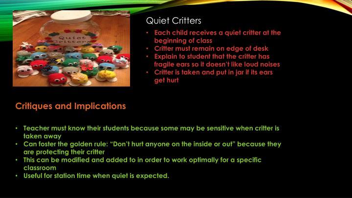 Quiet Critters