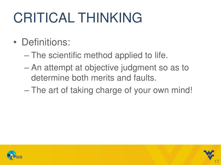 scientific critical thinking