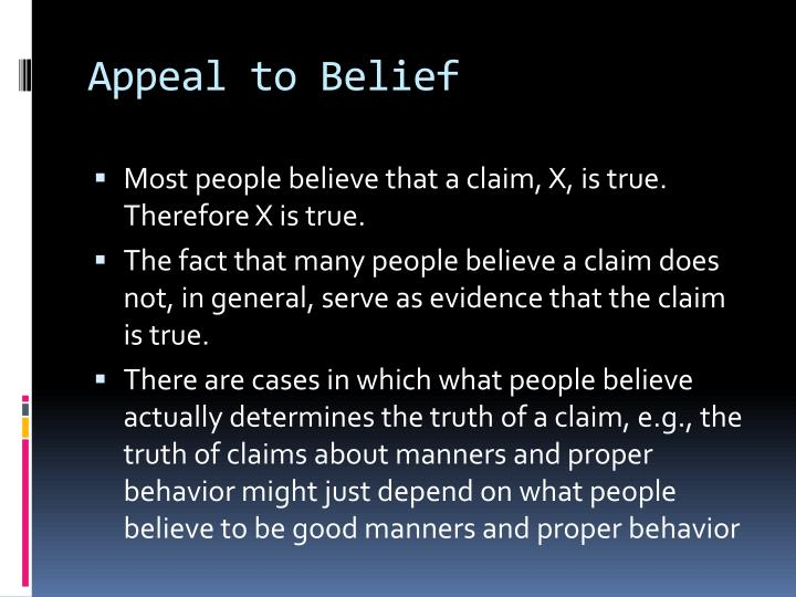 Appeal to Belief