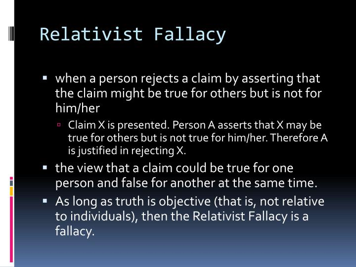 Relativist Fallacy