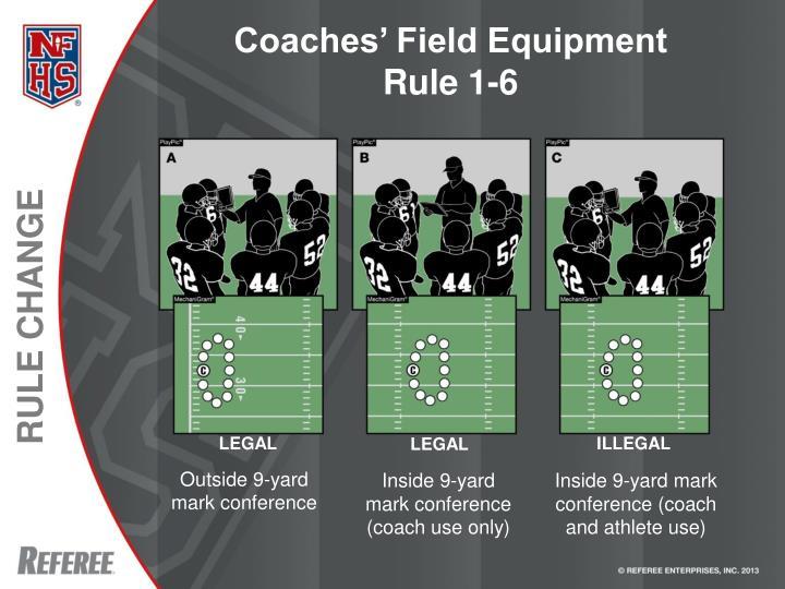 Coaches' Field Equipment