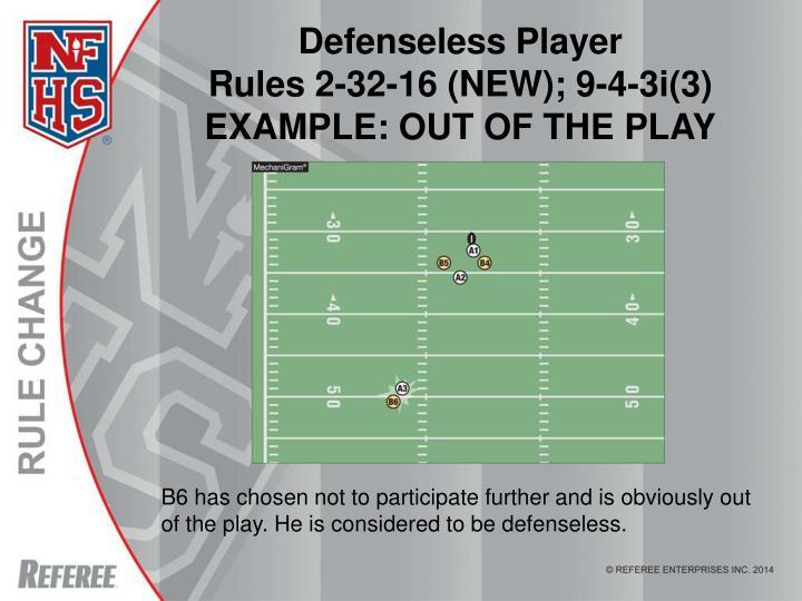 Defenseless Player