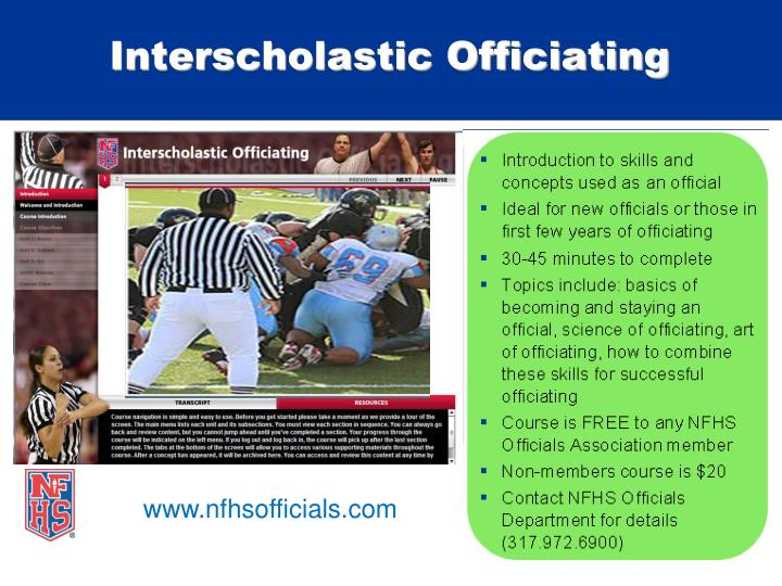 Interscholastic Officiating