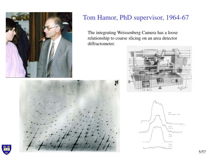 Tom Hamor, PhD supervisor, 1964-67
