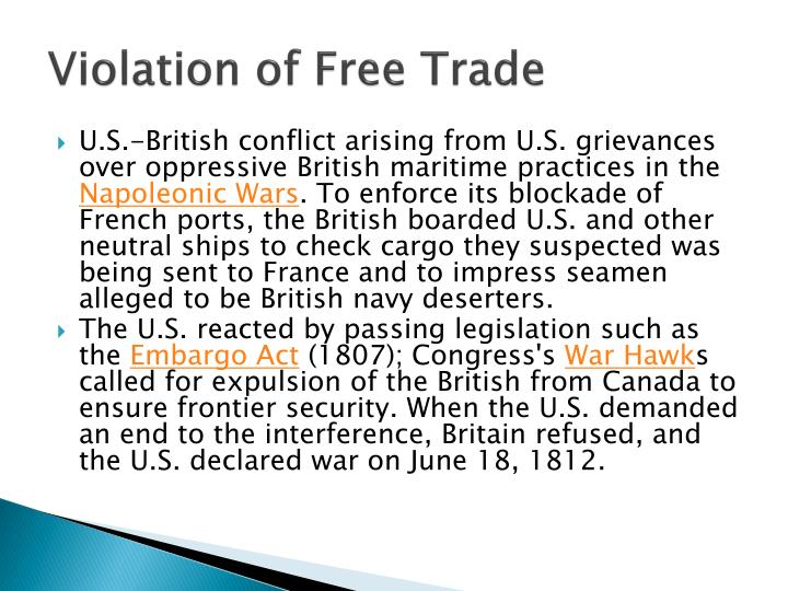 Violation of Free Trade