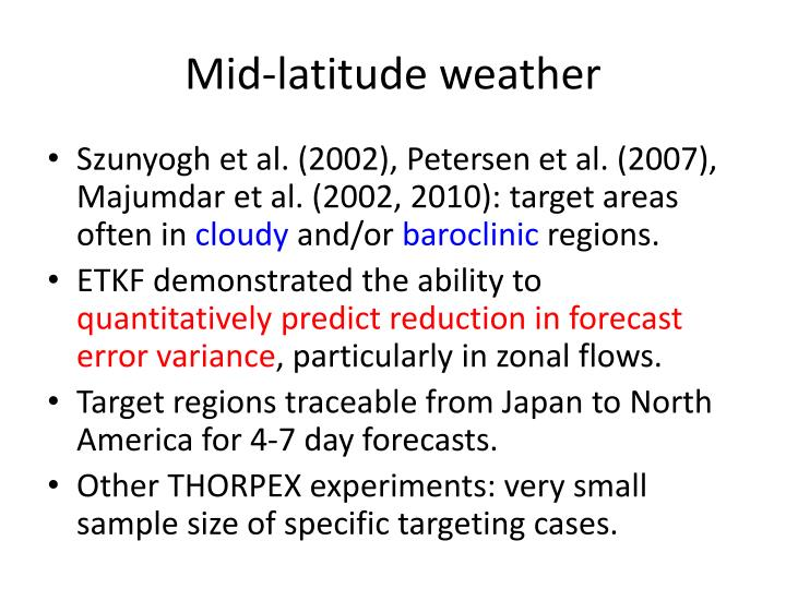 Mid-latitude weather