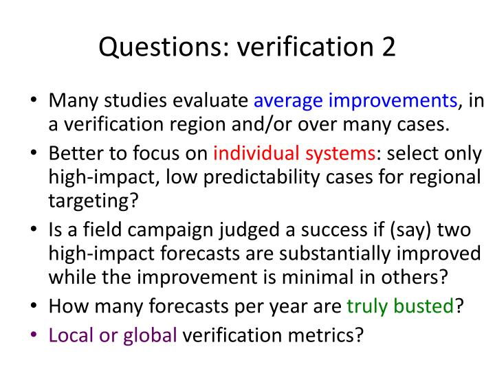 Questions: verification 2