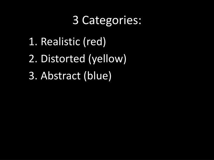 3 Categories: