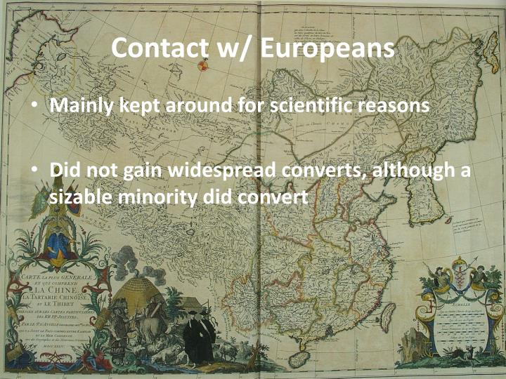Contact w/ Europeans