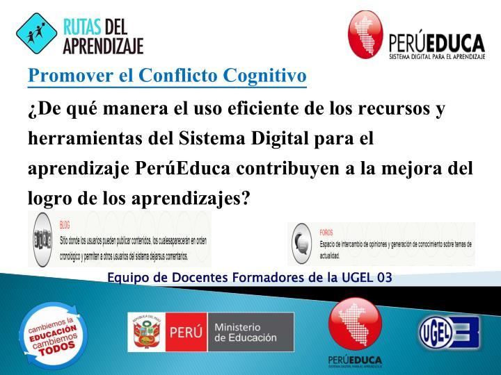 Promover el Conflicto Cognitivo