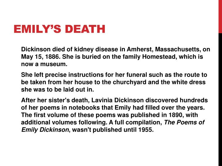 Emily's death