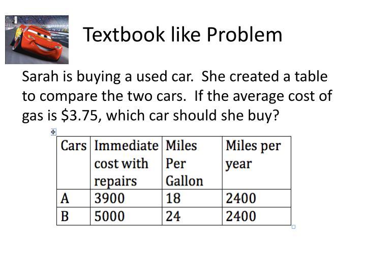 Textbook like Problem