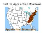 past the appalachian mountains