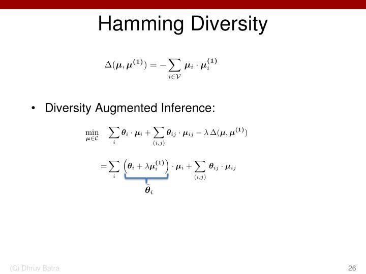 Hamming Diversity