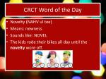crct word of the day