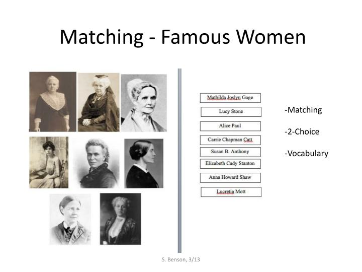 Matching famous women