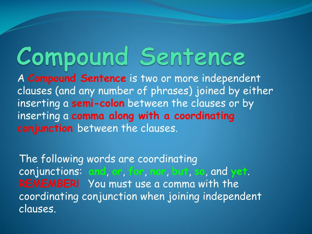 PPT - The Four Types of Sentence Structure PowerPoint ...