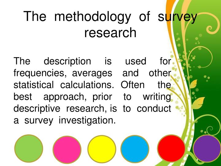 The methodology of survey research