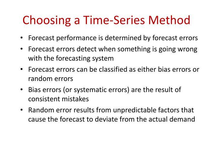 Choosing a Time-Series Method