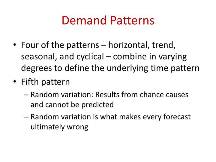 Demand Patterns