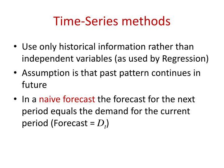 Time-Series methods
