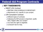 federal aid program contracts