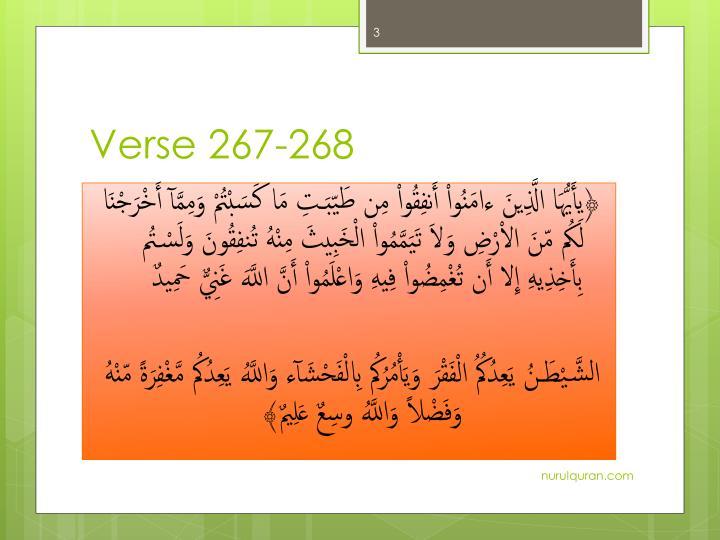 Verse 267 268