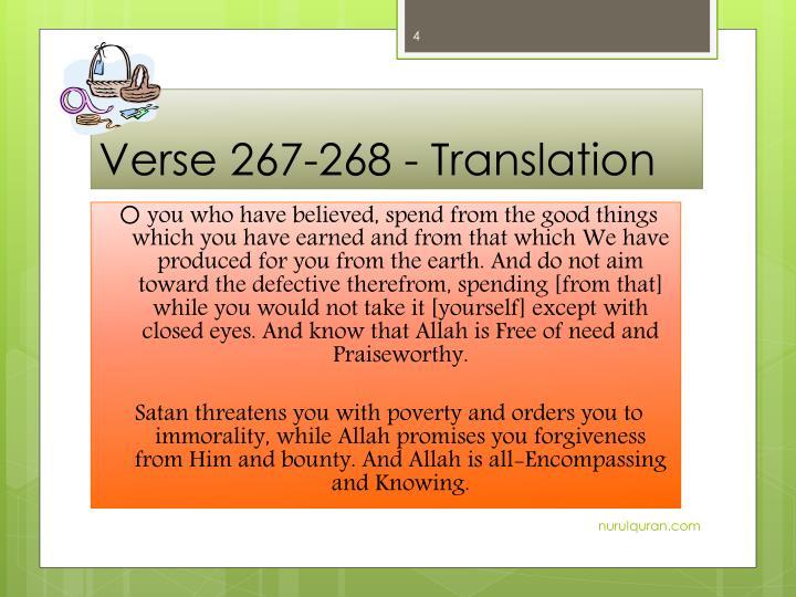 Verse 267-268 -