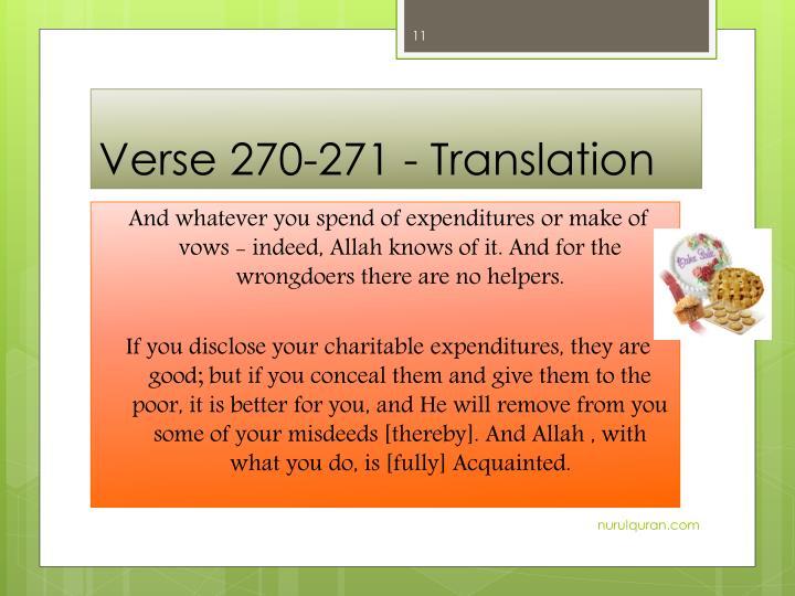 Verse 270-271 -